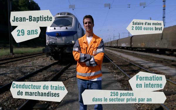 Conducteur de train de marchandises